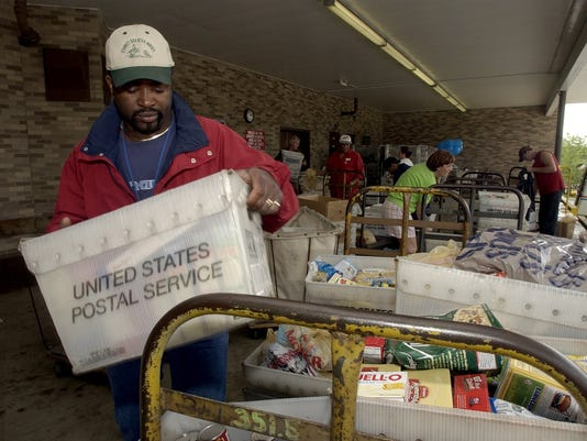Stamp Out Hunger 2003: 11th annual food drive by mail carriers