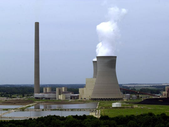 Indiana relies on coal-fired power plants, such as this American Electric Power plant in Rockport, for nearly all its energy.
