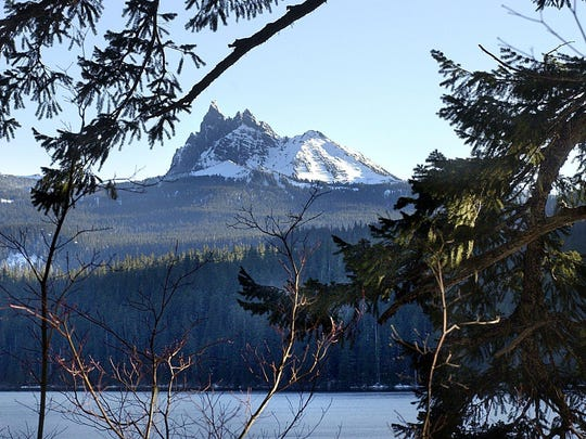 A file photo of Marion Lake in the Mount Jefferson Wilderness. The trail to the lake is now closed due to a 120 acre wildfire.