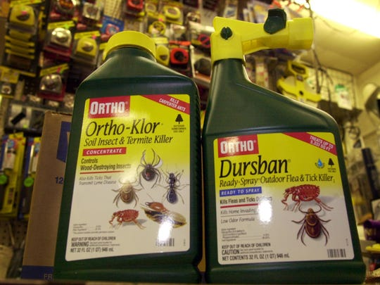 The pesticid chlorpyrifos was sold under the trade names Dursban or Lorsban before the EPA banned it in 2000 for almost all nonagricultural uses.