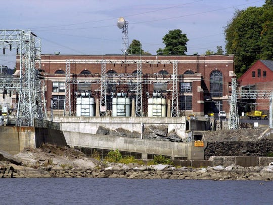 The hydroelectric generating plant in Bellows Falls on the Connecticut River.