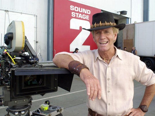 """Actor Paul Hogan, a.k.a. Crocodile Dundee, helped popularize the expression """"no worries."""""""