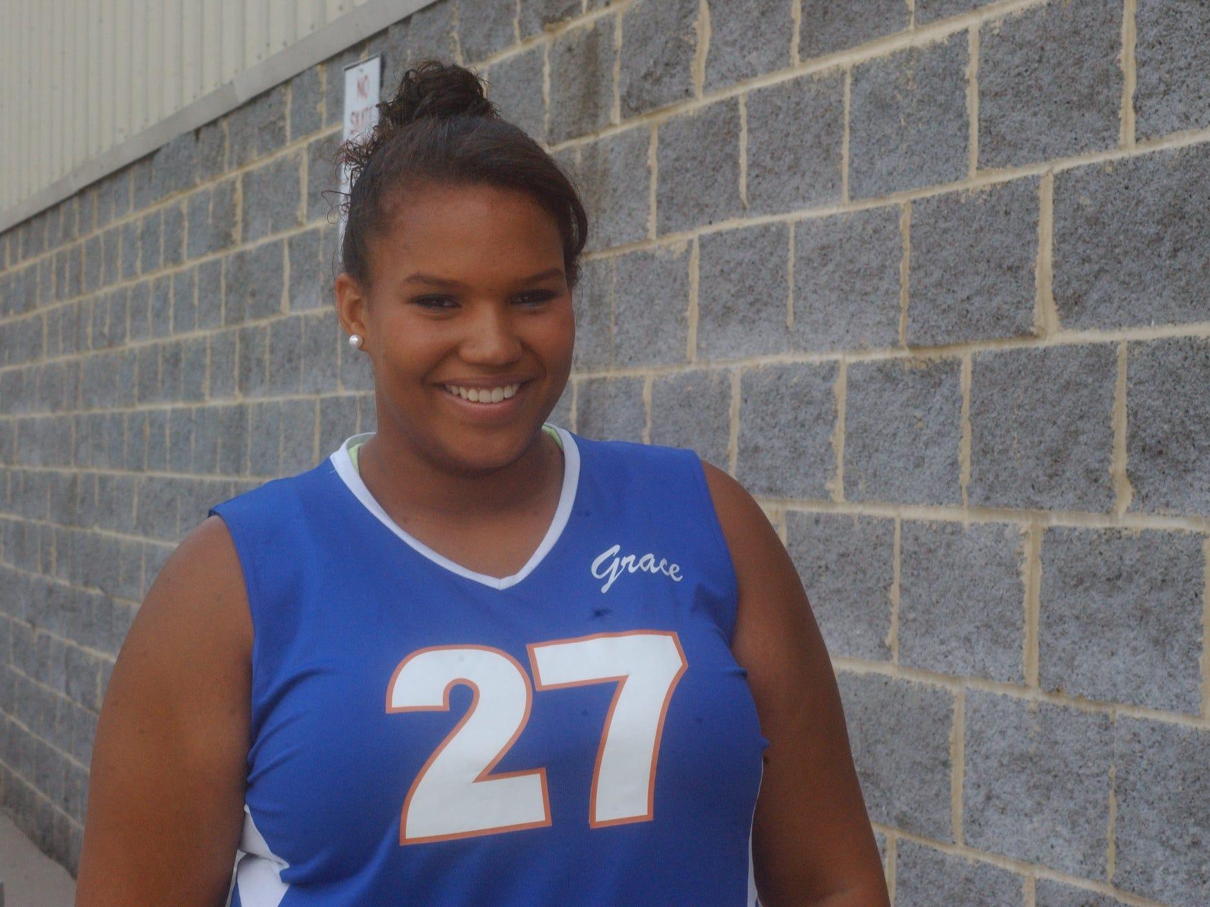 High School Volleyball 2014 Season Grace Christian - #27 - Kelsey Fitzgerald