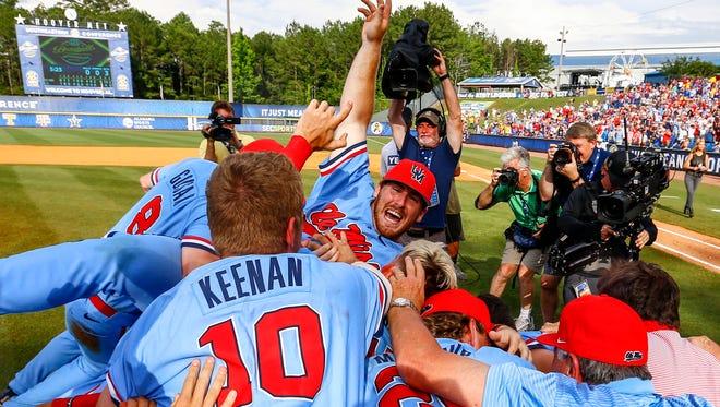 Ole Miss celebrated an SEC Tournament championship on Sunday and learned which teams would visit Oxford for an NCAA Tournament regional on Monday.