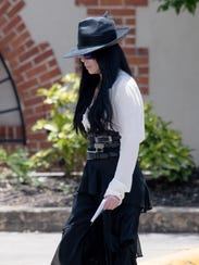 Cher is seen at the funeral for ex-husband Gregg Allman,