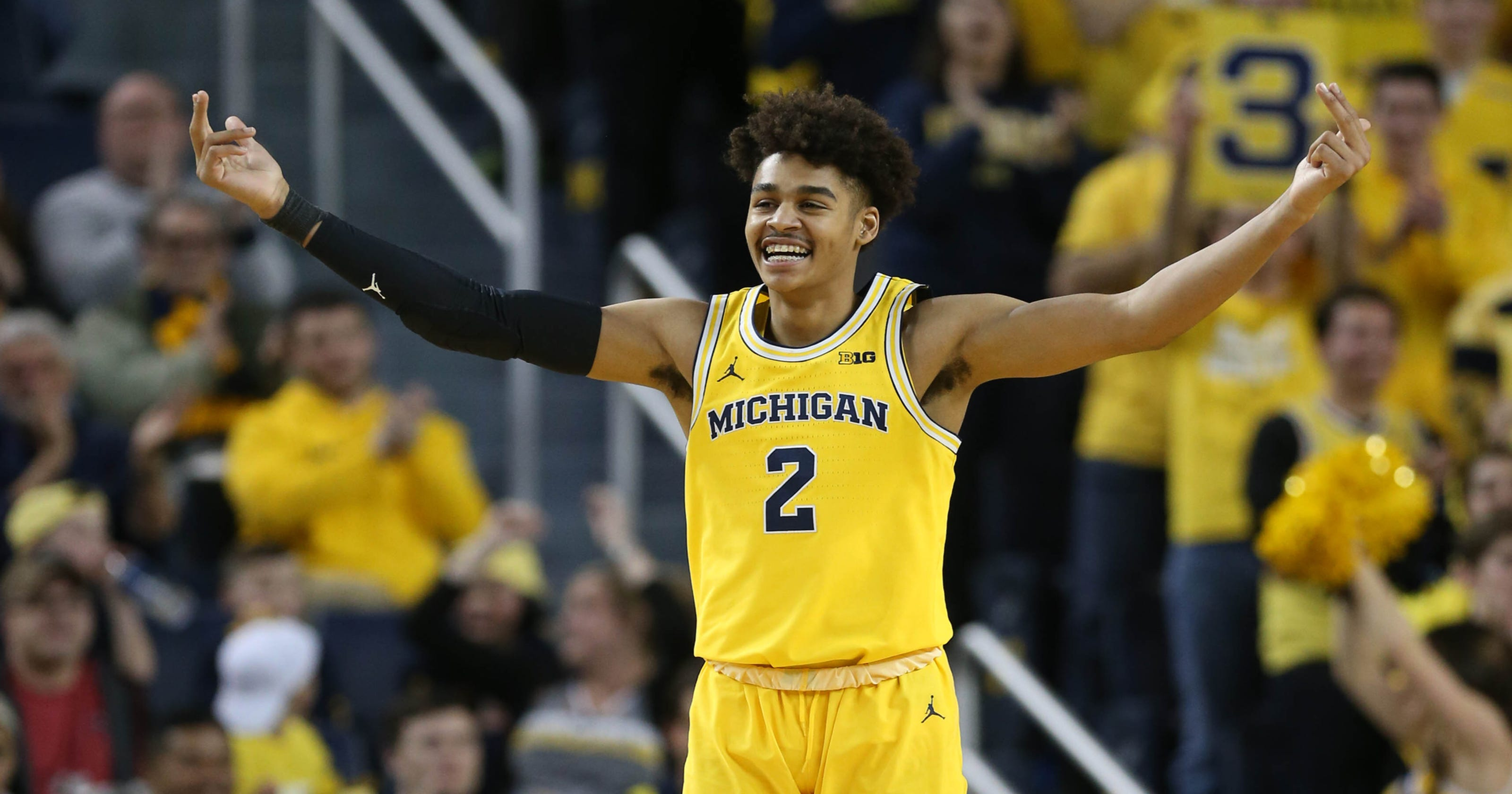 save off 07a22 c8ff3 Big Ten tournament: Michigan frosh Jordan Poole ready to ...