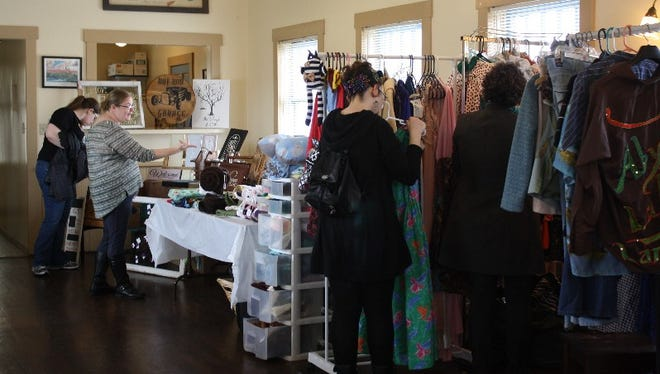 The first of six Handmade Market and Vintage, Too events was held at Preservation Station in downtown Jeffersonville on Saturday, March 12, 2016.