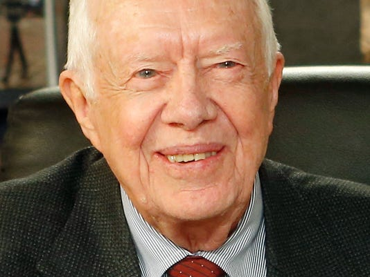 JImmy Carter speaks in Grand Rapids