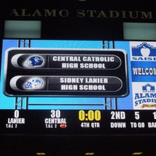 The renovations to Alamo Stadium include a new digital scoreboard and video board.