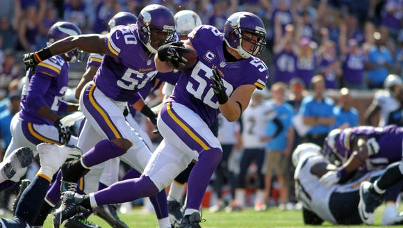 Minnesota Vikings outside linebacker Chad Greenway