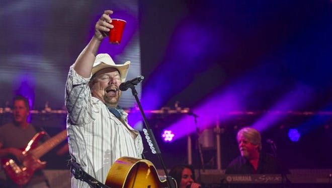 Country music artist Toby Keith performs at Klipsch Music Center, Saturday, September 13, 2014. With opening performances by his daughter, Krystal Keith, and a feature performance by Colt Ford.