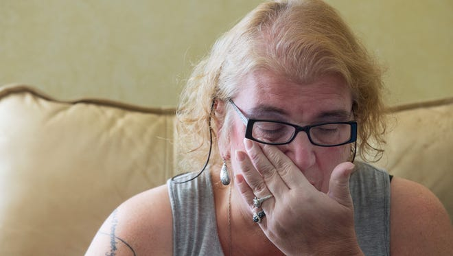 Cindi Byersmith wipes a tear away from her eye as she talks about her son Craig who died in 2014 from heroin-related causes at 20-years-old.
