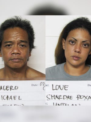 Michael Lucero and Shardae Love are shown in this combined photo