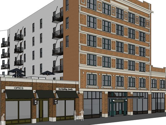 Renderings of the Carpenter Building by Koch Hazard Architects.