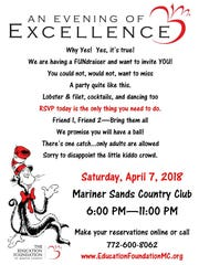 The Education Foundation of Martin County is having a FUNdraiser and wants to invite YOU!