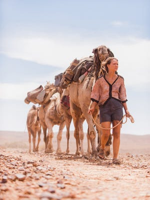 """Mia Wasikowska stars as a woman sets out to walk to desert of Australia in the film """"Tracks."""""""