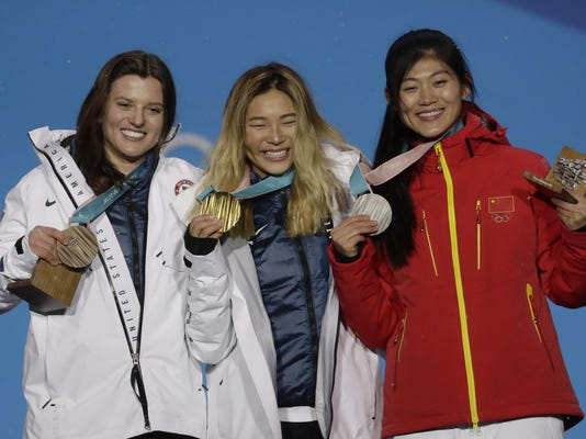 Pyeongchang Olympics Medals Ceremony Snowboard Women
