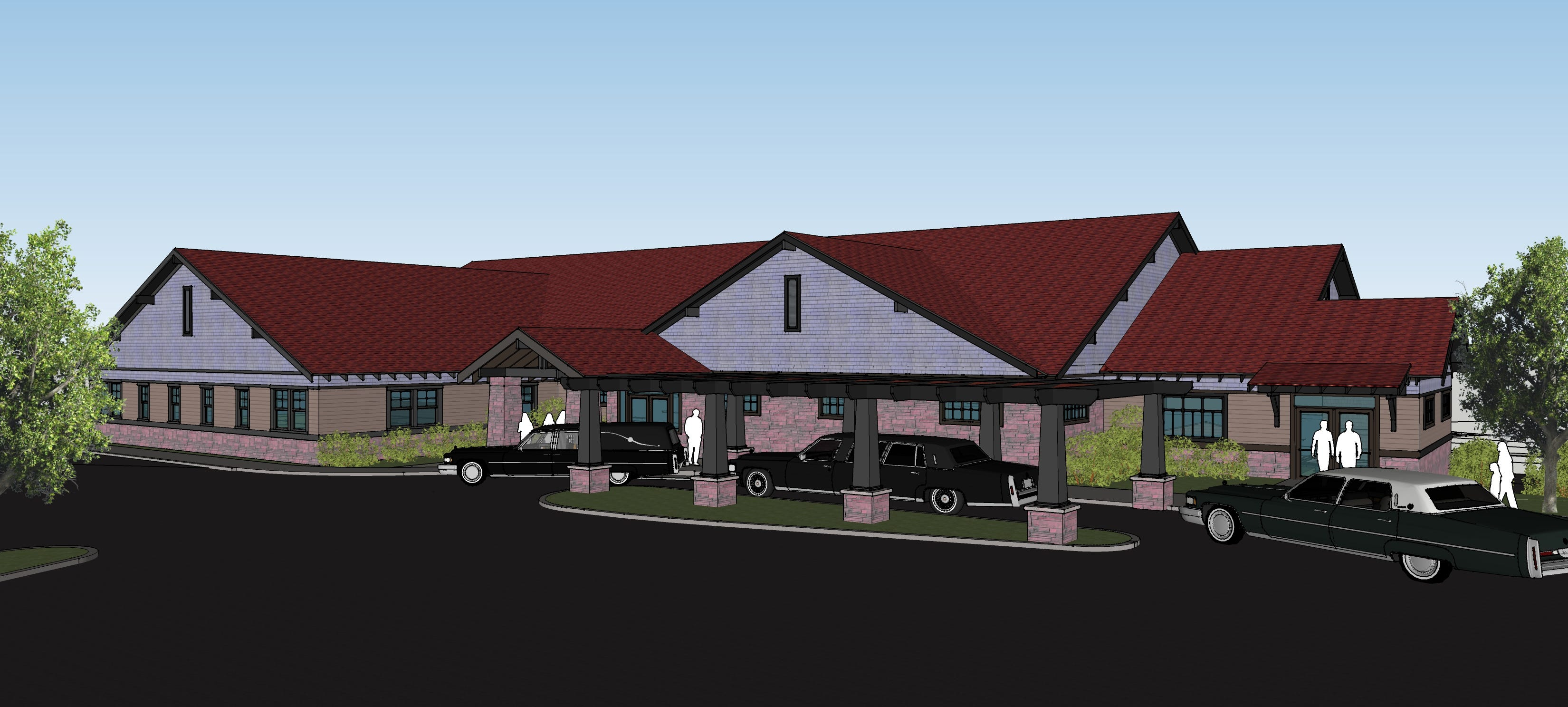 A Design Of The New George Boom Funeral Home On East
