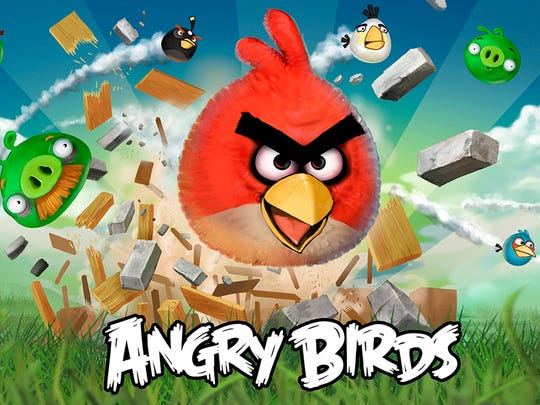 Angry Birds was one of the first popular mobile games.
