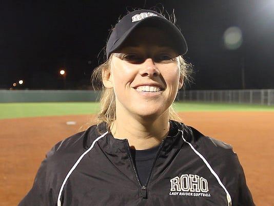 Rider head softball coach Alisha Crouch