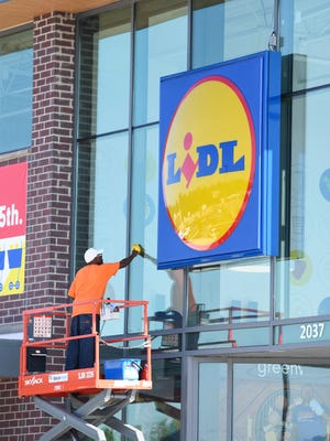 The new Lidl grocery store on Wade Hampton Blvd. in Greenville is prepped on Wednesday, June 14, 2017, for its grand opening on Thursday morning.