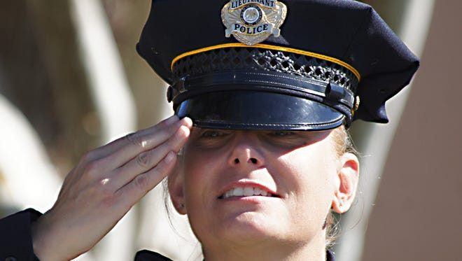 Lt. Kathleen Schindler was a fixture at veterans' ceremonies in Deming during her 20-year career with the Deming Police Department.