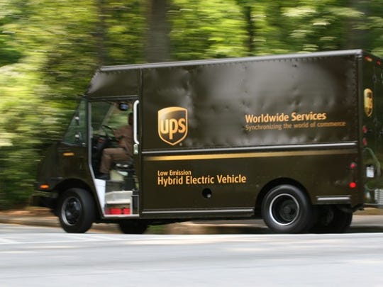 This file photo shows a UPS truck.
