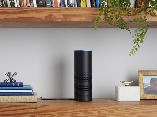 The Amazon Echo.