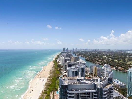 A Florida beach, as seen from the air.
