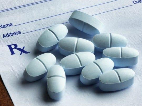 Opioid drugs on Rx pad