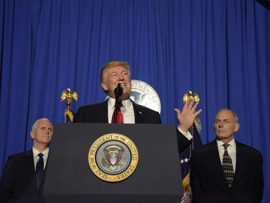 President Trump addressing Department of Homeland Security employees.