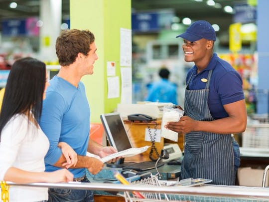 Self checkout machines may put cashiers out of business in the near future.