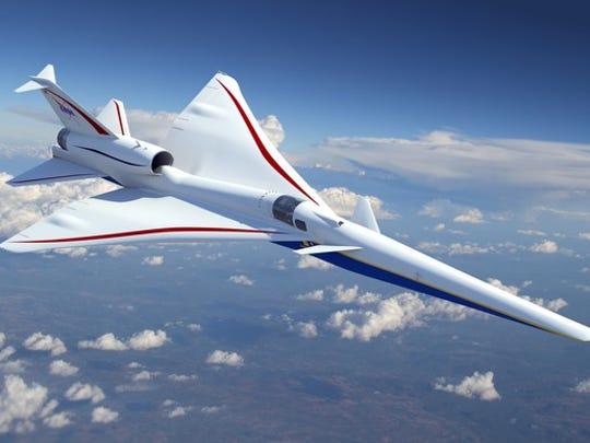 Lockheed Martin supersonic rendering
