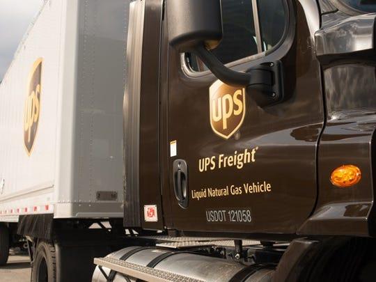 A UPS truck.
