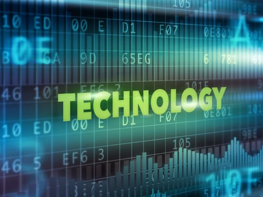 The word, technology, over computer codes