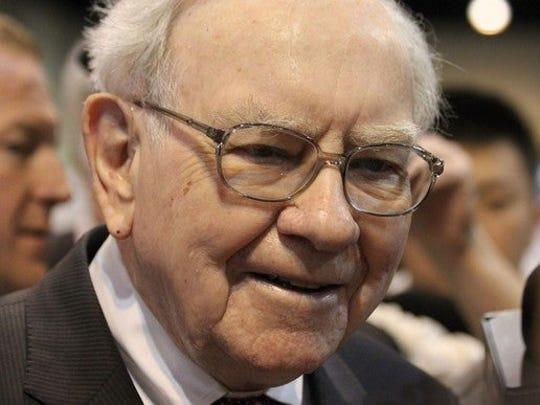 A close-up picture of Warren Buffett.