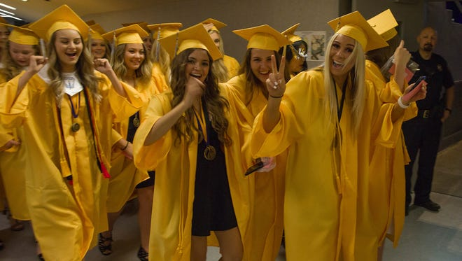 Reed High School graduation at Lawlor Events Center on Friday, June 15, 2018.