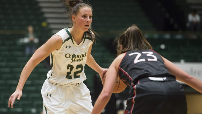 CSU's Elin Gustavsson, shown in a game earlier this season, was named Mountain West women's basketball Player of the Week.