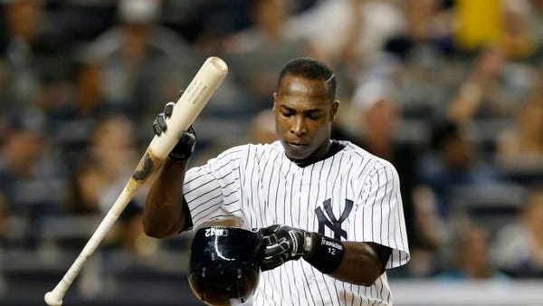 Alfonso Soriano, who hasn't homered since May 17, was designated for assignment by the Yankees.