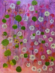 Mary Segal, an artist and art teacher, has worked in a wide variety of art materials including acrylics, watercolors, pastels, collages, etchings and monotypes and mixed media.