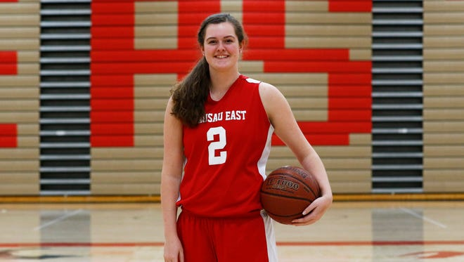 Gracie Reineking is averaging 10 points and five rebounds a game this winter for the Wausau East girls basketball team.