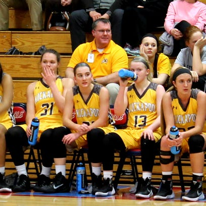 From left: Kickapoo sophomores Audrey Warren (31),