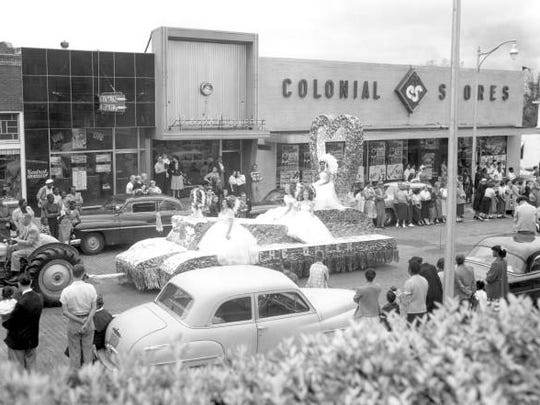 Here's an image from 1953 parade of downtown Tallahassee