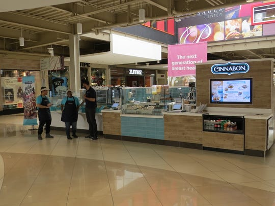 Cinnabon is now open at the Palisades Center.