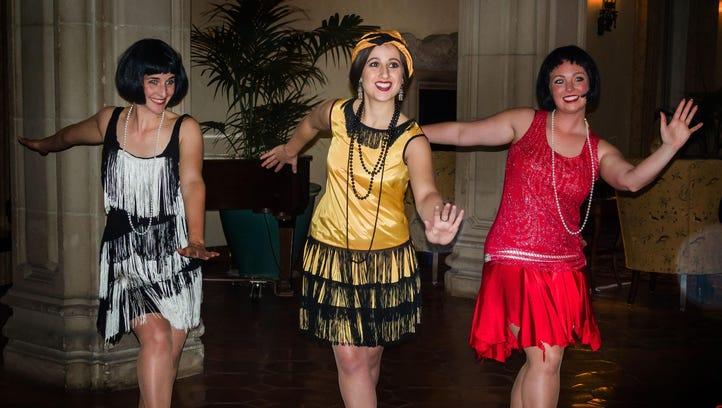 "Laura Abbott, Taylor Safina, and Kelli Guffey perform a Charleston in ""Ghosts Galore."""
