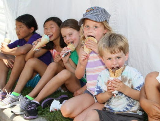 There are lots of kid-friendly treats at Bastille Days.