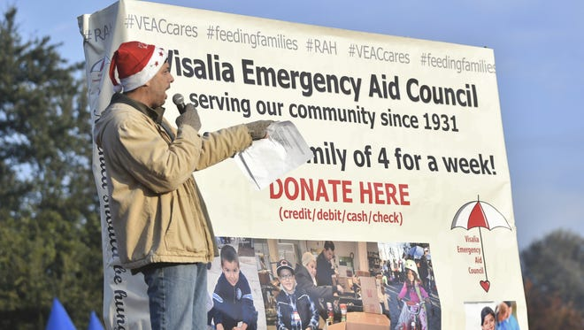 Thousands braved the chilly Thanksgiving morning to participate in Visalia Emergency Aid Council's 13th annual Race Against Hunger.  Executive Director Liz Wynn said more than 5,500 registered for the race. This year's race was the largest in VEAC's history.  Money raised through the 5K race benefits the nonprofit's food pantry which feeds more than 1,100 families — 2,500 children — each month.