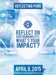 """SGA poster for its first-ever event """"Reflect on Sustainability."""""""