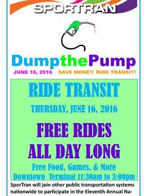 Dump the Pump day is Thursday.