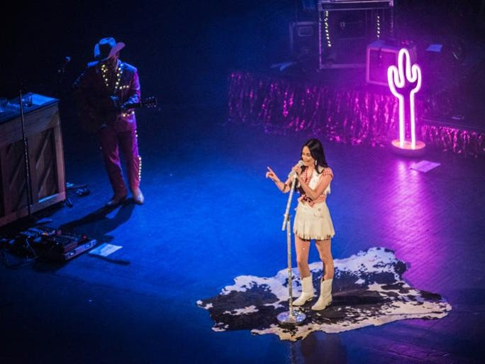 Kacey Musgraves performs at the Riverside Theater on Thursday.